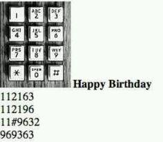 Happy birthday in dial tones :-)