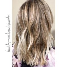 Ash blonde highlights/lived-in-color on light brown hair, mid-length
