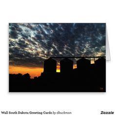 Wall South Dakota Greeting Cards