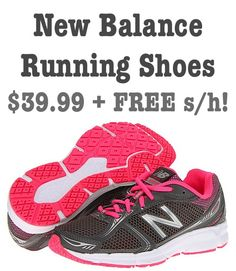 New Balance, Reebok and Vibram Running Shoes: up to 55% off + FREE Shipping! #running #shoes
