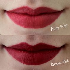 mac russian red vs ruby woo - Google Search