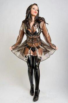 Belle Lingerie, Gothic Lingerie, Lingerie Set, Imper Pvc, Vinyl Clothing, Rainbow Outfit, Pvc Raincoat, Latex Dress, Sexy Latex