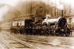 The final broad gauge 'Cornishman' prepares to depart from Paddington Station on 20 May 1892