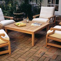 Kingsley Bate Elegant Outdoor Furniture Coffee Tables Teak Table Deck