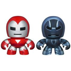Marvel Avengers Mini Mighty Muggs 2 pack Silver Centurion vs. Iron Monger by Hasbro. $15.57. Tiny SILVER CENTURION and IRON MONGER figures are just the right size for little hands. Collect Them All. Your tiny, spunky, chunky SILVER CENTURION figure is ready to do battle with your IRON MONGER figure! Both are sized just right for little hands. With these two MINI MUGGS figures, you get a double handful of action!Includes 2 figures.