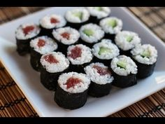 Sushi Rolls (Cucumber and Tuna Rolls) Recipe - Japanese Cooking 101