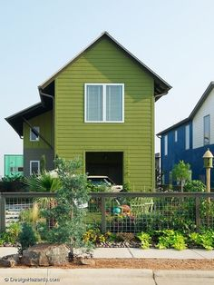 green color. Style inspiration for a California contemporary. A small modern farmhouse by FAB Architecture