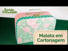 Como Fazer Maleta em Cartonagem | Revista Artesanato