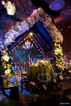 [Karen Tran Floral Design] by rhea Wedding Ceremony Arch, Wedding Reception Decorations, Wedding Ideas, Reception Design, Event Design, Forest Wedding, Dream Wedding, Fantasy Wedding, Wedding Things