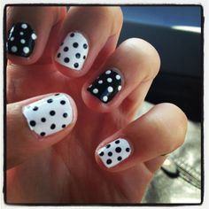 Poka dot nails ! doing this with mint and white :)