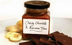 Chocolate and banana jam recipe - 5 ingredients, including a cheeky swig of amaretto, will produce this delicious jam! It takes 30 minutes, and will keep for 3 months - if it lasts that long! wonder if there is an substitute for amaretto. Homemade Horseradish, Banana Jam, Good Food Channel, Jam And Jelly, Banana Recipes, Jelly Recipes, Greek Recipes, Chutney Recipes, Breakfast Recipes