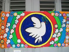 PALOMA PA2Z Peace Crafts, Sunday School Rooms, Bat Signal, Superhero Logos, Backdrops, Crafts For Kids, Religion, Kids Rugs, Disney Characters