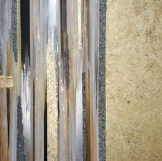 Stripe gold and silver abstract by Lovaartist