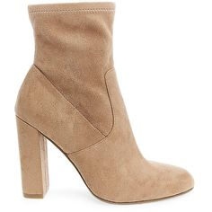 Steve Madden Women's Edit Booties ($90) ❤ liked on Polyvore featuring shoes, boots, ankle booties, ankle boots, slouchy ankle boots, slouch ankle boots, velvet ankle boots and high heel booties