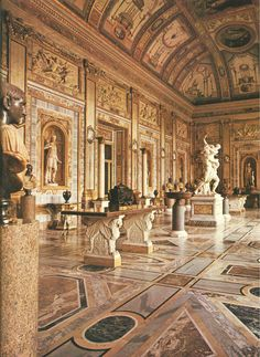 Villa Borghese, Rome, Italy. LOVE this place - my favorite sculpture in the middle, Proserpina and Pluto ~ Bernini