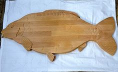 Carved wooden fish £295.00