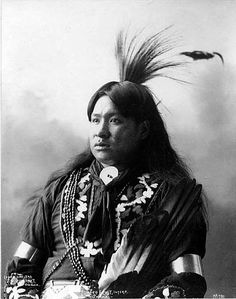 Howard Frost, Interpreter - Omaha tribe - Photo by Frank A. Rinehart, on the occasion of The Indian Congress occurred in conjunction with the Trans-Mississippi International Exposition of 1898, in Omaha, Nebraska, USA - (B/w copy)