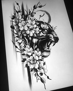 Tiger and cherry blossoms. Preferably side of thigh. DM or e-mail. Tiger Tattoo Thigh, Big Cat Tattoo, Tiger Tattoo Design, Cat Tattoo Designs, Japanese Tattoo Designs, Japan Tattoo Design, Natur Tattoos, Kunst Tattoos, Tattoo Drawings