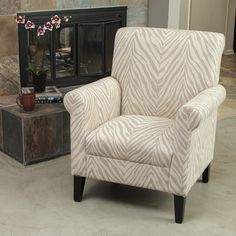 Christopher Knight Home Bigalow Beige Zebra Fabric Club Chair - Overstock Shopping - Great Deals on Christopher Knight Home Living Room Chairs Living Room Chairs, Home Living Room, Apartment Living, Dining Chairs, Zebra Chair, Small Sitting Areas, Contemporary Armchair, Shops, Club Chairs