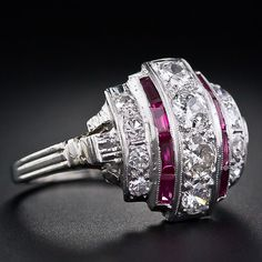 Ruby and diamond cocktail ring.