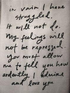 Mr. Darcy. Love love love!!