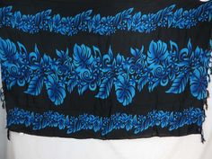 black tropical floral sarong wholesale urban apparel $5.25 - http://www.wholesalesarong.com/blog/black-tropical-floral-sarong-wholesale-urban-apparel-5-25/