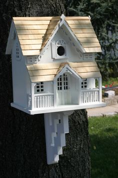 This classic Victorian styled birdhouse is a perennial best-seller. It&lsquos topped with pine shingles and has a removable back wall for easy cleaning. A front arch will provide a perfect perch for t