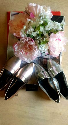 Forever21 metallic loafers: Silver and Rose gold