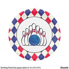 Bowling Party fun paper plate  sc 1 st  Pinterest & Pizza party custom paper plate | Pizza Paper and Plates