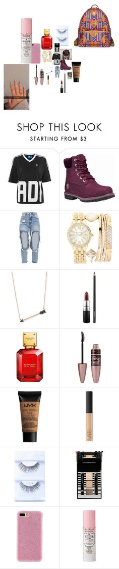 """""""Untitled #5079"""" by fashionicon67 ❤ liked on Polyvore featuring Topshop, Timberland, Jessica Carlyle, Sydney Evan, MAC Cosmetics, John Lewis, NYX, NARS Cosmetics, Forever 21 and Shibaful"""