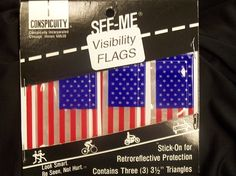 Reflective American Flags