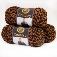 Lion Brand Yarn Country Campfire 134-233 3 Pack Yarn