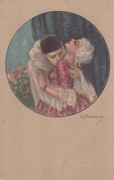 ZANDRINO ART Deco Harlequin Pierrot Kiss Lady - CAD $25.83. E195 Powered by eBay Turbo Lister The free listing tool. List your items fast and easy and manage your active items. 123000383825