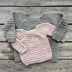 Diy Crafts - Ravelry: Rail Sweater pattern by Pernille Larsen Knitting For Kids, Baby Knitting Patterns, Baby Patterns, Knooking, Ravelry, Toddler Sweater, Baby Pullover, Knit Basket, Knit Dishcloth
