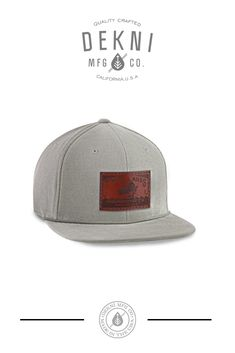 0148347e C51-co - 6 panel - corduroy // custom snapback. Custom Leather Patch Cap by Dekni  Creations ...