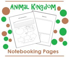 FREE Animal Kingdom Notebooking Pages from Living and Learning at Home