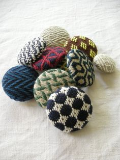 Tobishi embroidery - buttons or brooches
