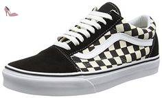 Vans Old Skool, Sneakers Basses mixte adulte, Multicolore (Checkerboard/Black/Espresso), 39 EU (6 UK) - Chaussures vans (*Partner-Link)
