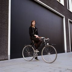 youmightfindyourself:    Rapha: Is this your typical attire for around town? – Yes. I always wear something flexible and easy to ride in. Here I'm wearing my Junya Watanabe dress and Comme des Garcons jacket as they're also good for work at Dover St. I always wear Vans when cycling.