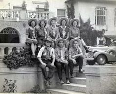 Employees at The Broadmoor dressed up to greet Rodeo visitors. In 1938 the hotel drugstore staff dressed up to celebrate the first rodeo to be held at the new Will Rodgers Stadium, which had been built beside the Ice Palace (World Arena) on the west side of the lake. The stadium became the site of concerts and football games, as well as home to the Colorado Springs Rodeo. It was renamed for Spencer Penrose after his death. Penrose Stadium was razed in the 1970s to make way for Broadmoor…