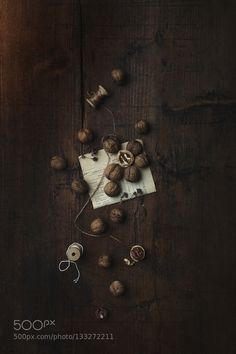 Pic: Walnuts on a old wooden table