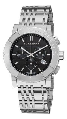 Burberry Mens BU2304 Trench Chronograph Black Chronograph Dial Watch >>> More info could be found at the image url.(This is an Amazon affiliate link)