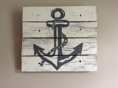 Anchor 14X14 Rustic ArtBeach housewood pallet by RusticTreeHouse, $48.99