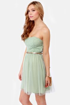 May I Have This Dance? Sage Green Lace Dress at http://www.lulus.com/products/may-i-have-this-dance-sage-green-lace-dress/80338.html