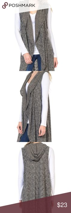 """⚡️SALE Black Hooded Open Cardigan NWT⚡️ 💕Super soft brushed and stylish """"Open Cardigan with Hood"""" by Bellino.  Duster length.  Made in the U.S.A.  Wonderful staple piece to pair with leggings or skinny jeans. 70% polyester, 25% rayon, 5% spandex.  Hand wash cold water.  Hang or line dry.💕 Bellino Clothing Sweaters Cardigans"""