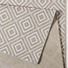 In- & Outdoorteppich Karo - Kunstfaser - Grau - 140 x 200 cm