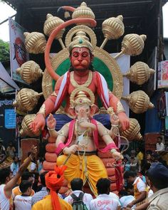 Ganeshji and Hanumanji Shri Ganesh Images, Ganesh Chaturthi Images, Hanuman Images, Ganesha Pictures, Hanuman Murti, Hanuman Jayanthi, Durga, Lord Rama Images, Lord Shiva Hd Images