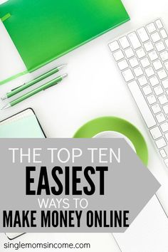 Looking to put a little extra cash in your pocket but don't want to be tied down to a day job? Here are the top ten easiest ways to make money online that anyone can do! Make Money Money Making Ideas