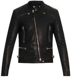 $4,190, Lanvin Leather Biker Jacket. Sold by MATCHESFASHION.COM. Click for more info: https://lookastic.com/men/shop_items/290936/redirect