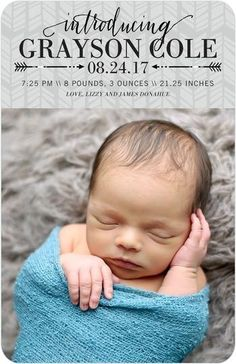 Introduce your new arrival with a birth announcement from our latest collection.